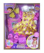 DORA the Explorer BIRTHDAY Dress-up Adventure Doll Outfit NEW + Shoes   - $25.99