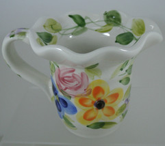 Mariam's Garden Tabletops Unlimited 6-oz Creamer Hand Painted Floral - $8.80