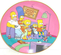 Simpsons Collector Plate Family for the 90s Bart Lisa Marge Homer Frankl... - $59.95