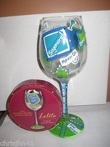 Lolita TTFN Wine Glass w/ Box Retired Rare Ta Ta For Now T.T.F.N - $32.81