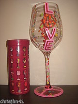 Lolita Peace with Love GIANT Wine Glass Retired Rare Valentines Day Gift... - $56.09
