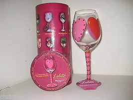 Lolita Big Hearted Lover Wine Glass New w Box &... - $28.04
