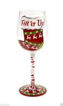 Lolita Fill Er Up Wine Glass Retired Rare Christmas Stocking Holiday Santa - $37.39