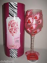 Lolita My Heart's On Fire Wine Glass New w Box & Tag Valentine's Day! - $30.37