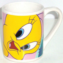 Looney Tunes Tweety Bird Cup Mug Coffee Yellow Pink Blue Gibson Soup Tea - $34.95