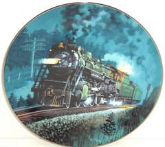 Train Plate Knowles Collector Crescent Romantic Age Steam Engines Retire... - $59.95