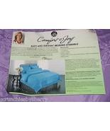 Joy Mangano Full Purple Comforter Pillowcases Shams Bolster Pillow Cover... - $199.95