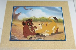 Disney Store Simba Pride Lithograph Gold Seal Lion King Picture  - $49.95