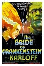 THE BRIDE OF FRANKENSTEIN MOVIE - VINTAGE 32x24... - $13.95
