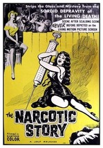 NARCOTIC STORY MOVIE - RARE CLASSIC VINTAGE 32x... - $13.95