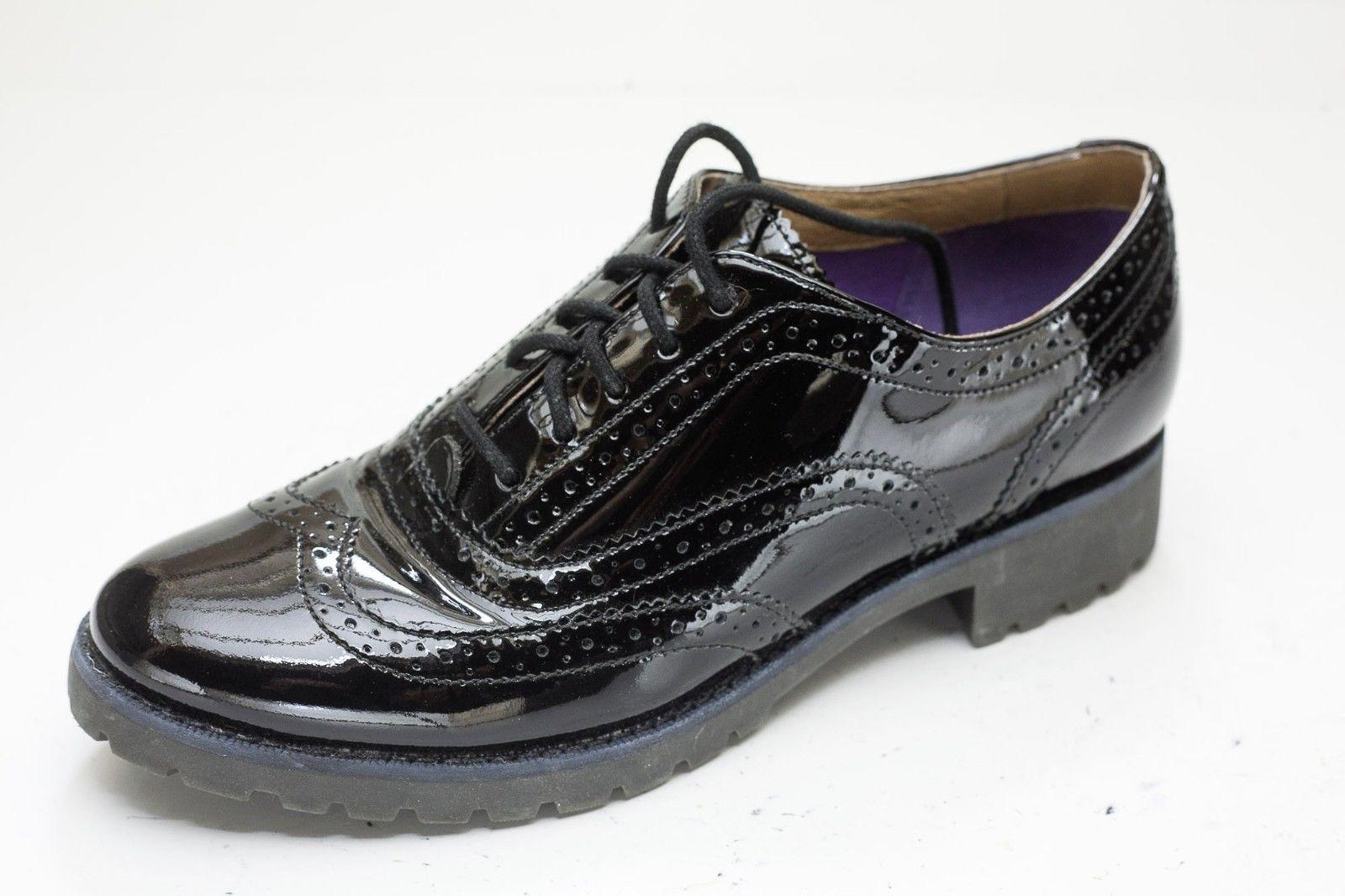 Sperry Top-Sider 6.5 Black Wingtip Brogue Oxford Shoe Women's