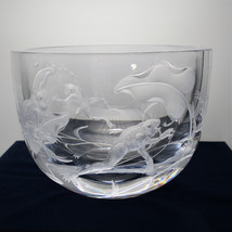 Faberge Garden Friends Crystal Bowl Copper Whee... - $2,969.99
