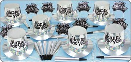 Silver Regal Happy New Year Party Kit for 25 Guests - $36.63