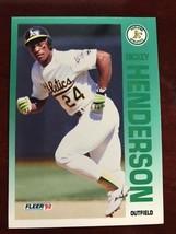 1992 Fleer - Rickey Henderson #258 - $0.99