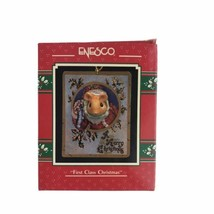 Vintage Enesco 1990 First Class Christmas Holiday Ornament Xmas Tree - $15.76