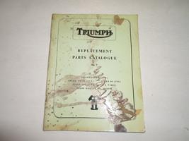 1966 Triumph Replacement Parts Catalog Catalogue No.7 3TA 5TA T90 T100C ... - $89.09
