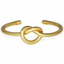Large Gold Knot Bracelet, 18K Gold Plated Statement Love Knot Bracelet - $11.00