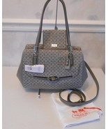 NWTGray Madison Needlepoint Op Art Satchel 25215+Madison Needlepoint wal... - $277.00