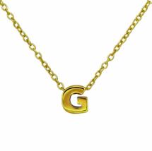 "Gold G Pendant Necklace, Vermeil Gold Initial ""G"" Letter Charm Necklace  - $18.00"