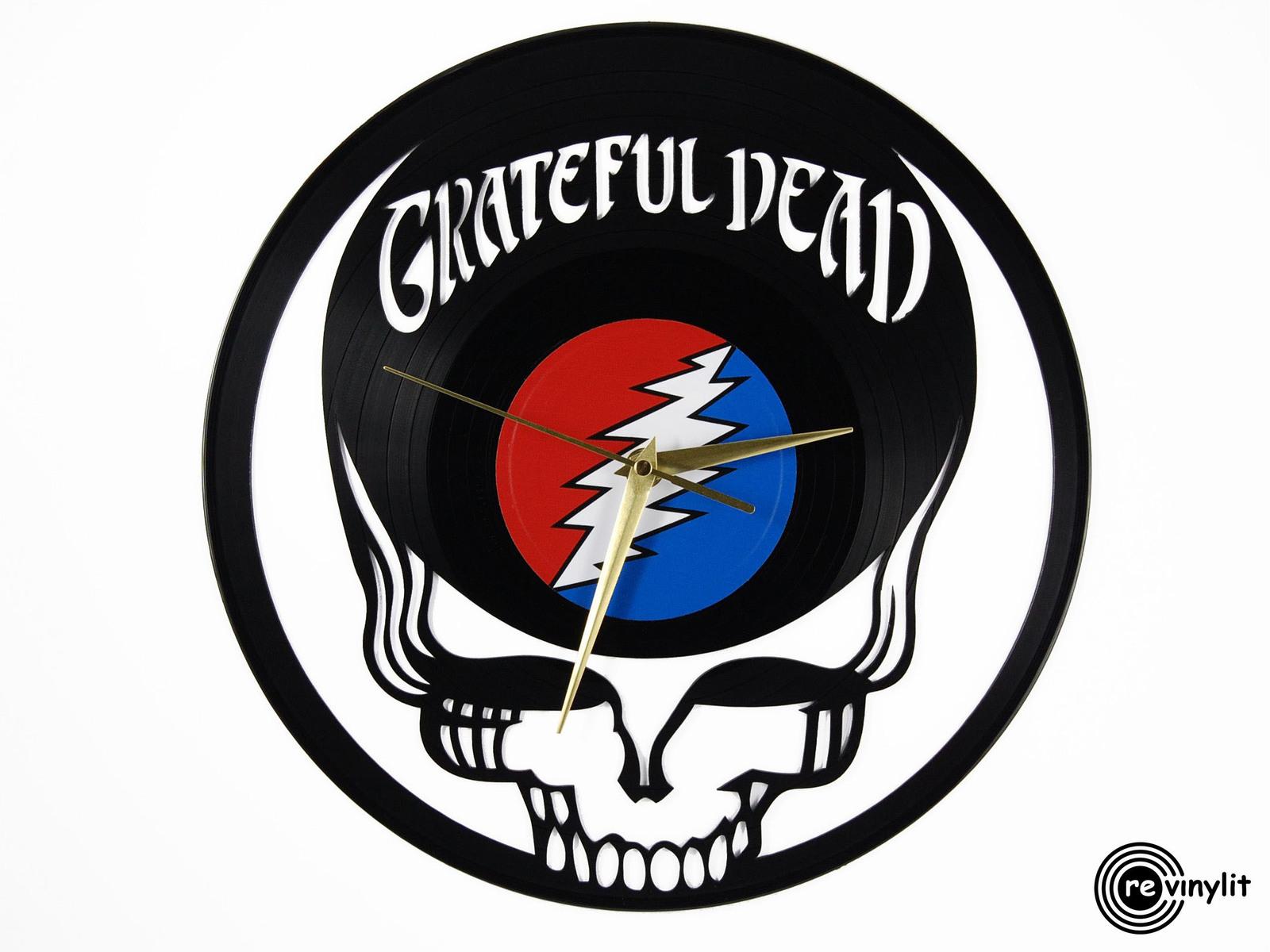 Vinyl Record Clock Grateful Dead Logo Clock