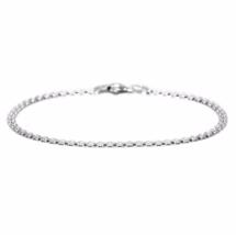 Sterling Silver Bismark Chain Bracelet, 925 Sterling Silver Bracelet, Gi... - $11.00