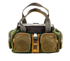 Prada Army Green, Caramel, & Brown Nylon Should... - $1,995.00