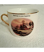 "Thomas Kinkade coffee Tea cup ""Sunset At Riverbend Farm"" 2003 Teleflora ... - $12.00"