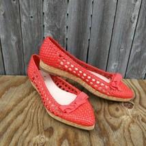 Kate Spade Cayenne Woven Nappa Flats Shoes Size 7 - $70.00