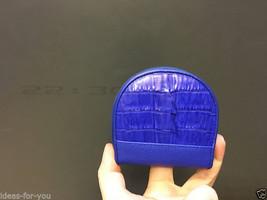 GENUINE CROCODILE SKIN WALLET LEATHER ZIP COIN PURSE ALLIGATOR BLUE ZIP ... - $18.61