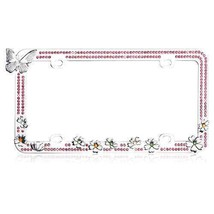 Valor LPF2HC005PNK Design License Plate Frame with Crystals - $25.08