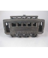 Antique Cast Iron Trolley Car #14 With Moving W... - $35.00