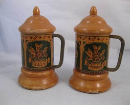 Wooden Stein Salt & Pepper Shakers Banff Canada - $5.50