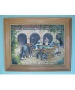 Vintage Mission Style Original Painting On Boar... - $375.00