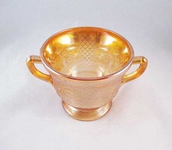 Federal Carnival Glass Iridescent Sugar Bowl Normandie Amber Circa 1933 - $8.00