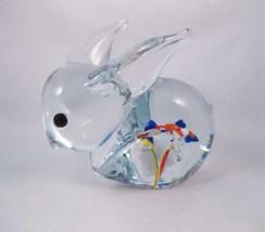 Blown Glass Bunny Rabbit Paperweight Stunning! - $15.00
