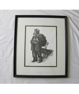 """Gentry """"Old Man"""" Pencil Lithograph Signed & Num... - $78.00"""