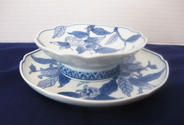 Blue & White Asian Signed Bowl And Underplate B... - $15.00