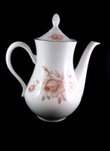 Thun TK Czechoslovakia Coffee Pot Orange Roses Circa 1918-1939 - $33.00