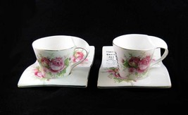 Unique Japanese Tea Cups & Saucers/Plates Pink Roses NIB - $15.00