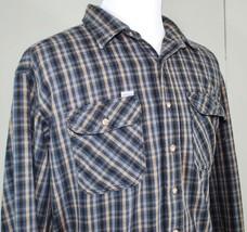 Carhartt Men's Heavy Flannel Cotton Shirt Plaid Made In USA Long Sleeve ... - $34.64