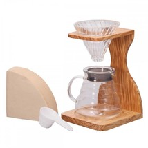 New!Hario V60 Olive Wood Stand Set Coffee Maker... - $132.40