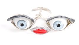 Delfina Delettrez Women`s Anatomik Face Ring Si... - $192.42