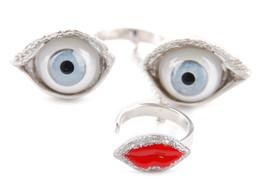 Delfina Delettrez Women`s Anatomik Face Ring Si... - $170.19