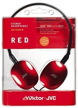 JVC HA-S160-R Victor Head-band Foldable Headphones Red - $50.08