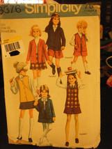 Simplicity 8376 Girl's Lined Jacket or Vest, Skirt & Pantskirt Pattern -... - $8.91
