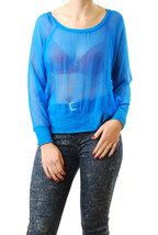 Chaser Women's See Through Top Pullover Long Sl... - $22.44