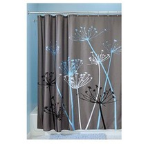 Fabric Shower Curtain Thistle Bathroom 72 x 72-Inch Gray Blue Modern Home NEW - $21.69