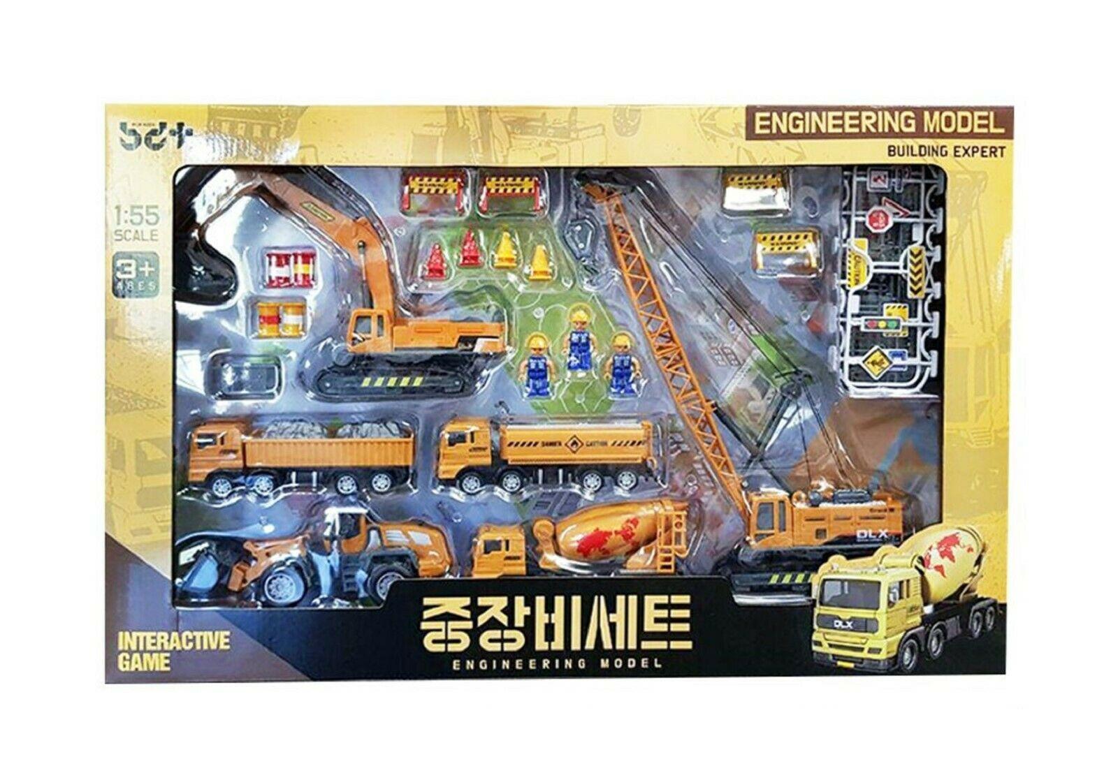 Bandi Toys Construction Heavy Equipment Vehicle Car Crane Dump Truck Toy Set