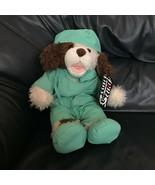Build A Bear Brown Puppy Dog Doctor Surgeon Scrub Plush Stuffed Animal Soft Toy - $99.99