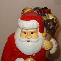 Santa Claus Bag of Toys Cookie Jar Ceramic  - $23.89